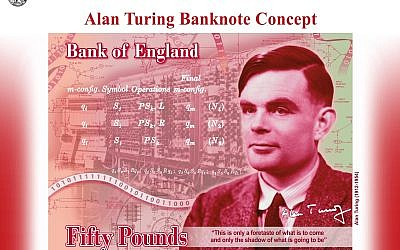 Concept of the new Fifty Pound featuring Second World War code-breaker Alan Turing. (Photo credit should read: Bank of England/PA Wire)