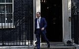 Foreign Secretary Dominic Raab leaves a cabinet meeting at 10 Downing Street, London. Photo credit : Aaron Chown/PA Wire