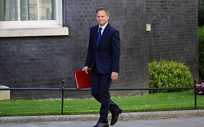 Newly installed Transport Secretary Grant Shapps arrives for a cabinet meeting at 10 Downing Street, London. Photo credit: Aaron Chown/PA Wire