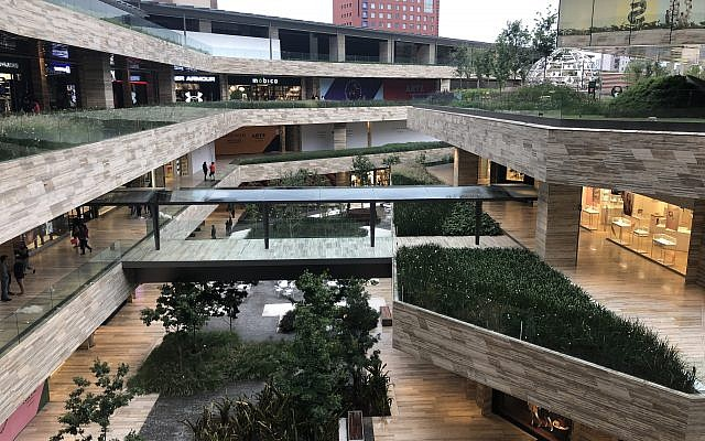 Artz Pedregal, a plush shopping mall in Mexico City, where two Israelis were shot and killed this week in a gangland 'hit'