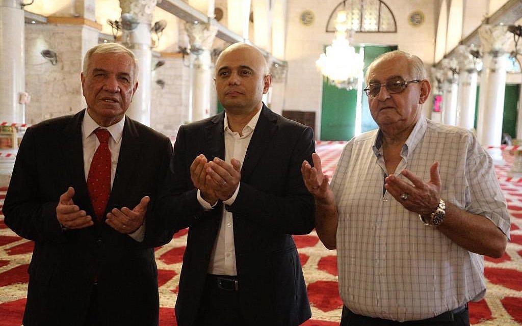 Javid (centre) in Al Aqsa Mosque on the Temple Mount, Jerusalem