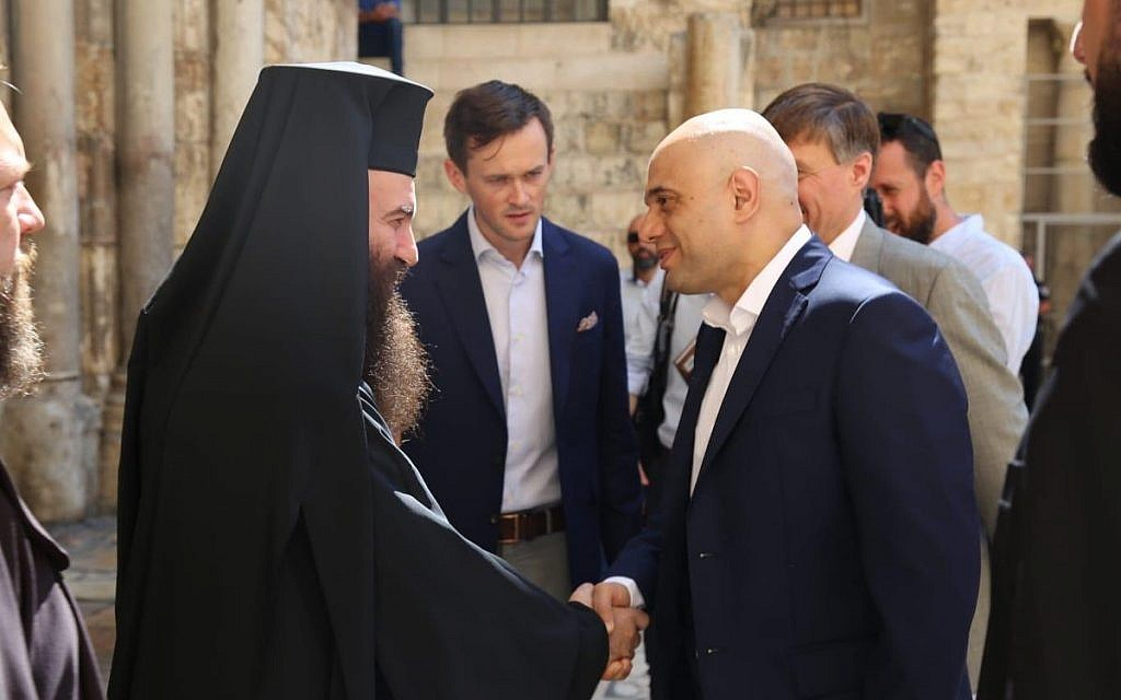 Sajid Javid meets Christian leaders in Jerusalem