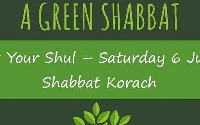 Shuls encouraged to host a 'green Shabbat' for London