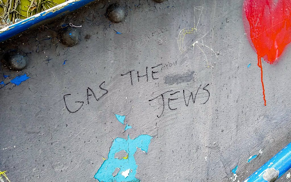Gas the Jews daubed this year
