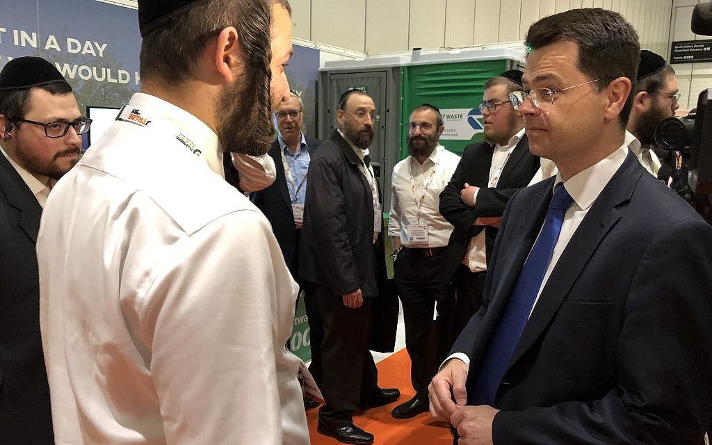 Communities Secretary James Brokenshire joins 5,000 at Jewish trade fair