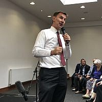 Jeremy Hunt at Finchley United Synagogue