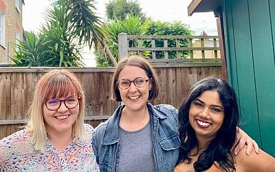 New Moishe House in Clapham will be run by three residents, L-R: Emily Zinkin, Livia Frankish, Neetu Puranikmath.