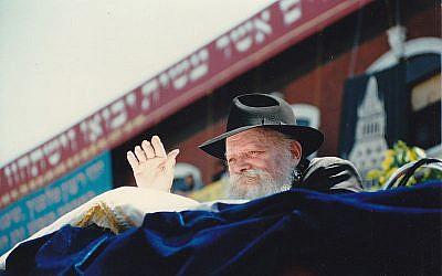 Menachem Mendel Schneerson - the Lubavitcher Rebbe. (Credit: Wikipedia/Mordecai baron)