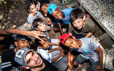 British and Ethiopian-Israeli participants together on the UJIA's Bar Bat Mitzvah Programme (EBBM) (Photo credit: Neil Mercer)  (Photo credit: Neil Mercer)