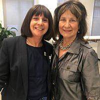 Naomi Dickson with Baroness Helena Kennedy