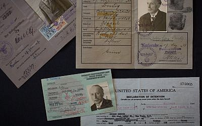 Documentation of Dr Georg Bredig as he escaped Nazi-occupied Euroep