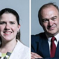 Lib Dem Leadership candidates Jo Swinson and Ed Davey