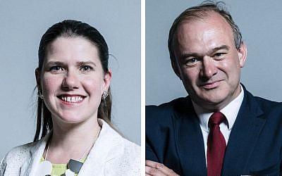 Lib Dem Leadership candidates Jo Swinson and Ed Davey