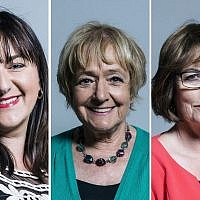 Ruth Smeeth, Margaret Hodge and Louise Ellman
