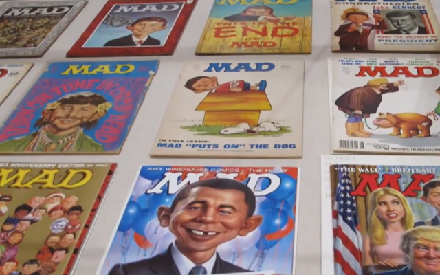 Mad Magazine covers (Screenshot from video by www.today.com)