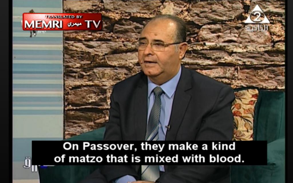 Egyptian scholar says Jews use blood to make matzah