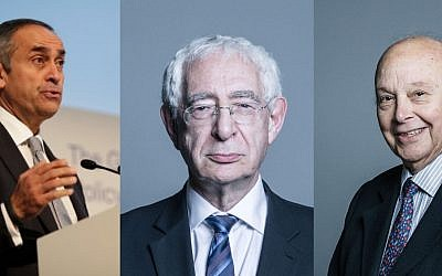 Lord Darzi (left) and Lord Turnberg  (right) quit shortly after Lord Triesman (centre)