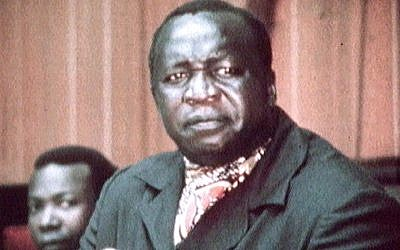 A video still image from undated television footage shows Former Ugandan dictator Idi Amin addressing an OAU meeting. (Faith Matters / Jewish News)