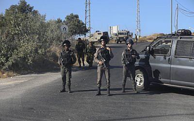 Israeli troops have set up