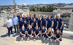 Photo of Chelsea Women players posing for a photo with Chelsea owner Roman Abramovich in Jerusalem, Israel. (Photo credit: Shahar Azran/Chelsea Football Club/PA Wire.