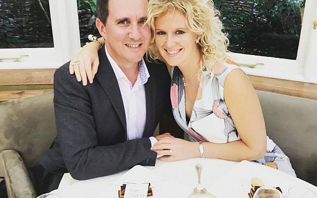 Jonathan Goldstein with his wife Hannah Goldstein (Family Handout/PA Wire)