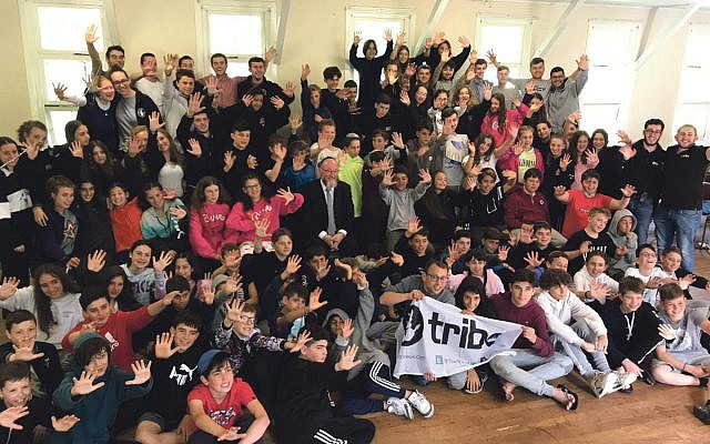 Children in Year 7 participating to Tribe's Camp Barak had the honour of meeting Chief Rabbi Ephraim Mirvis who visited the camp site in Scotland.