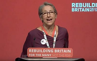 Leah Levane at Labour Conference last year (Credit: YouTube)