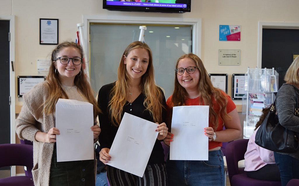 JCoSS students with their A-Level results!