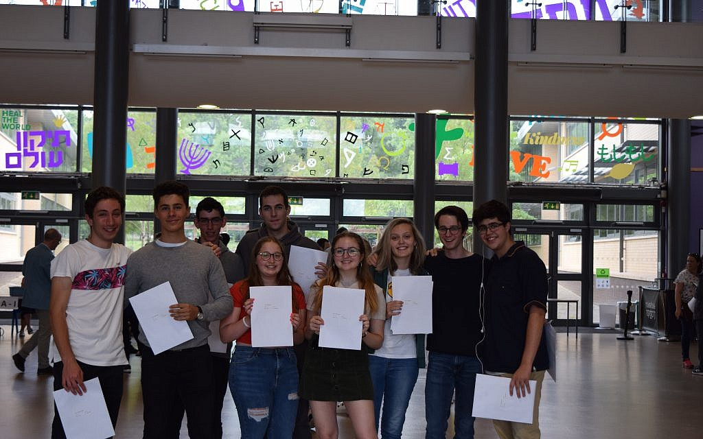 Group shot of JCoSS students with their A-Level results!