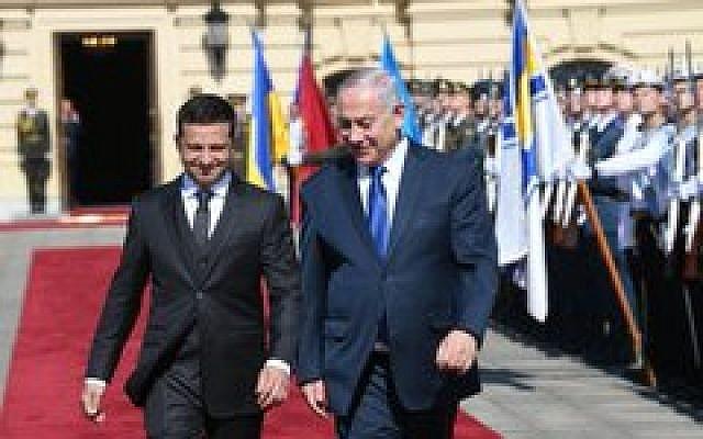 Prime Minister Benjamin Netanyah with Ukraine President Volodymyr Zelensky