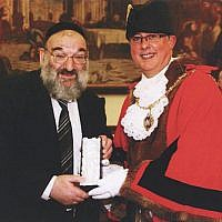 Ezriel Salomon MBE received the Freedom of the Borough in 2011 (Credit: Gateshead Council)