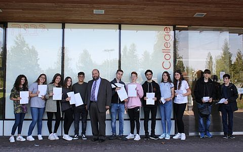 Yavneh College students celebrate their GCSE results for 2019