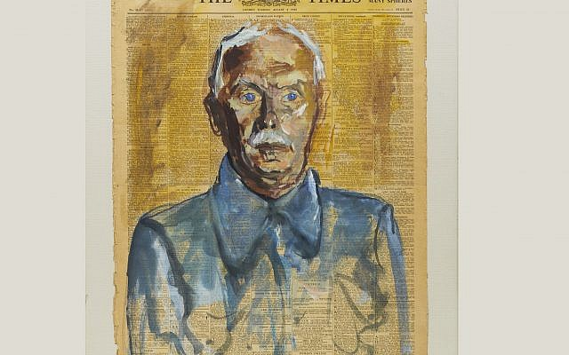 Portrait of a Man: Wilhelm Hollitscher (Huyton Internment Camp, Liverpool. © Hugo Dachinger estate )