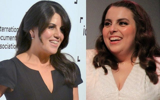 Booksmart actress Beanie Feldstein (right) will take on the role of Monica Lewinsky (left), in a real-life retelling of the former White House intern's infamous affair with President Bill Clinton