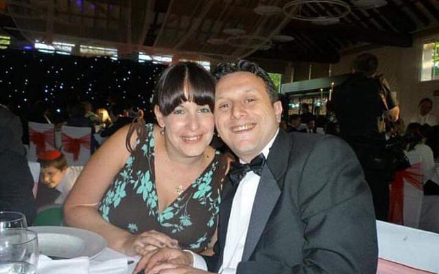 Jeremy Rabinovitz, 42, with his wife, Amanda,