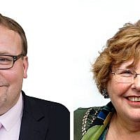 Councillor Gideon Bull, left, Zena Brabazon, right