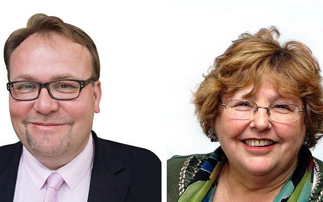 Councillor Gideon Bull, left, Zena Brabazon, right