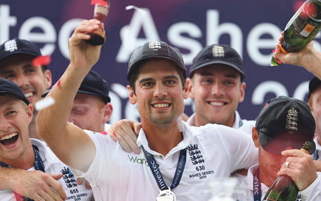 Alastair Cook with the famous urn in 2015