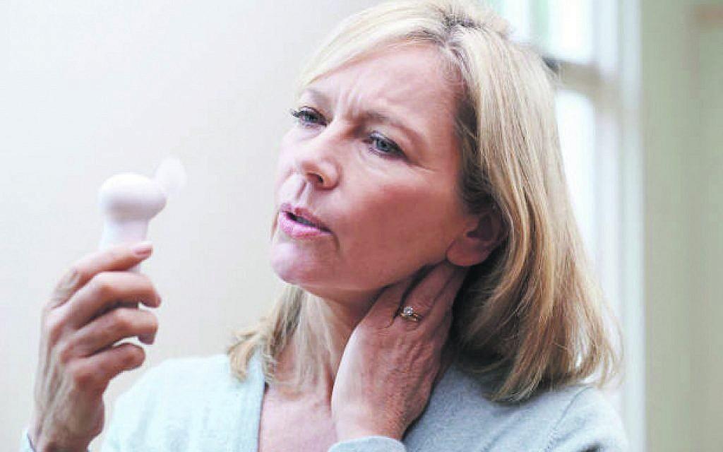 Hot flush from menopause