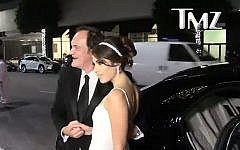 Director Quentin Tarantino with wife Daniella Pick last year (Credit: TMZ)