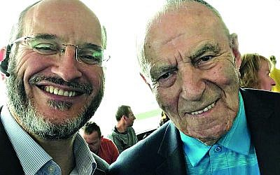 Rabbi Schiff with Leslie Kleinman