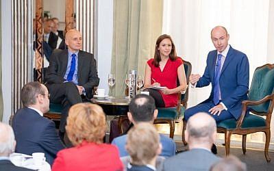 Lord Adonis, MEP Daniel Hannan and the journalist Tamara Cohen (Credit: Grainge Photography)