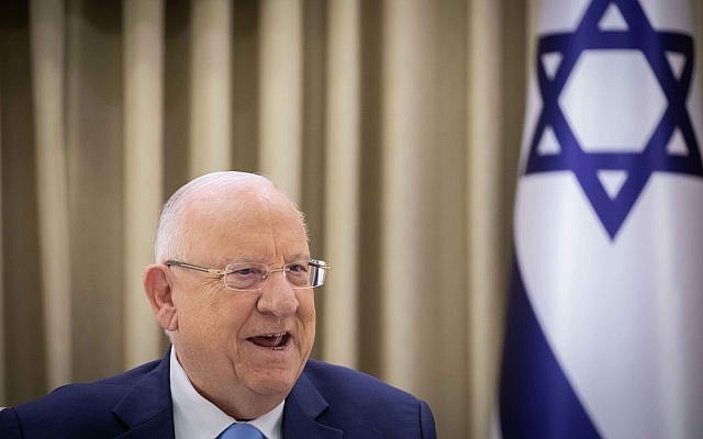 Members of the Joint List uring a consultation meeting with Israeli President Reuven Rivlin in Jerusalem, Sunday, Sept. 22, 2019. Photo by: Yonantan Sindel-JINIPIX