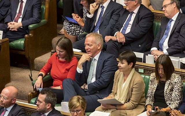 Liberal Democrat leader Jo Swinson (centre left) as Prime Minister Boris Johnson made a statement to MPs in the House of Commons, London, (Photo credit: Roger Harris/UK Parliament/PA Wire)