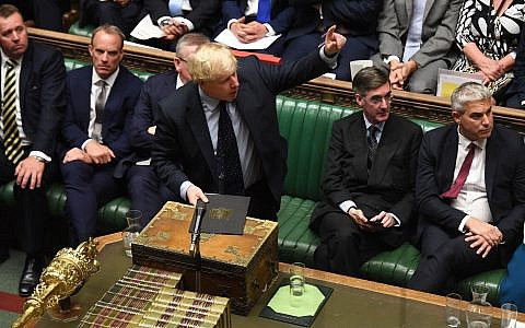 Boris Johnson addresses a tense House of Commons (UK Parliament/PA Wire)