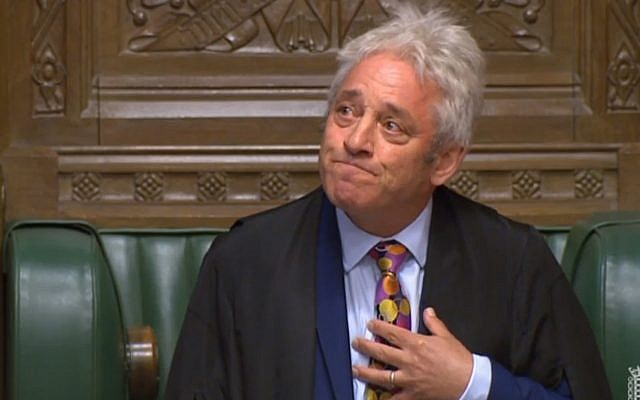 Speaker John Bercow (Photo credit: House of Commons/PA Wire)