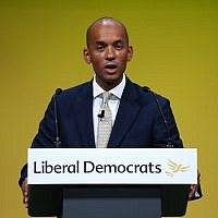 Chuka Umunna speaking during the Liberal Democrats autumn conference (Credit: Jonathan Brady/PA Wire)