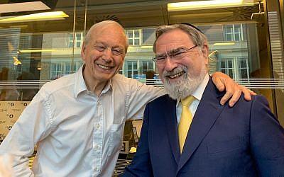 John Humphrys with former Chief Rabbi Lord Sacks