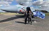 Israeli envoy Mark Regev with Brigadier General Ein Dar, Israeli Air Force Head of Training and Doctrine.