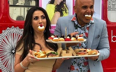 Francine Lewis and Simon Gross host Celeb Bri Tea on London Live